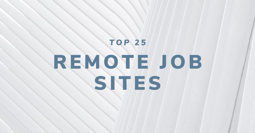 Top 25 Remote Job Sites for 2020