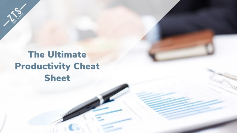 The Ultimate Productivity Cheat Sheet