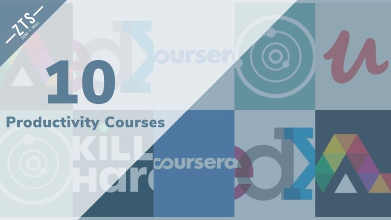 Top 10 Productivity Courses for 2020