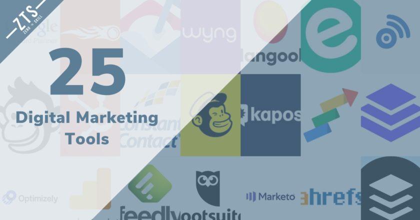 Top 25 Digital Marketing Tools