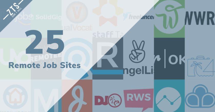 Top 25 Remote Job Sites